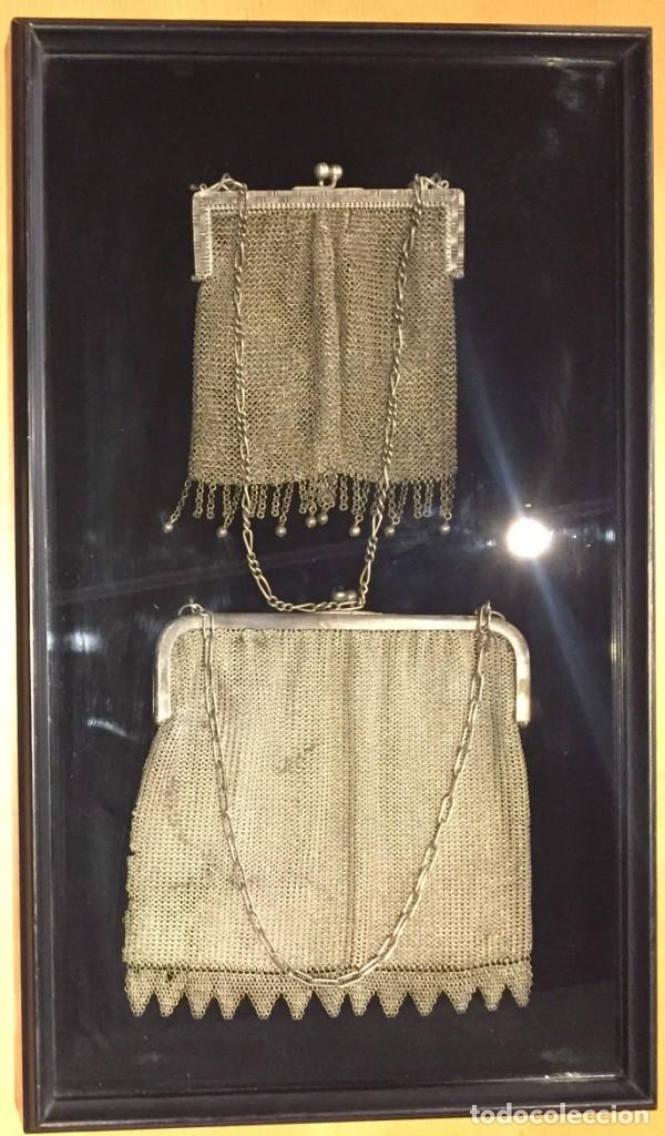 3304f399da82 cuadro de bolsos malla antiguo de plata 12 cm. - Comprar Bolsos ...