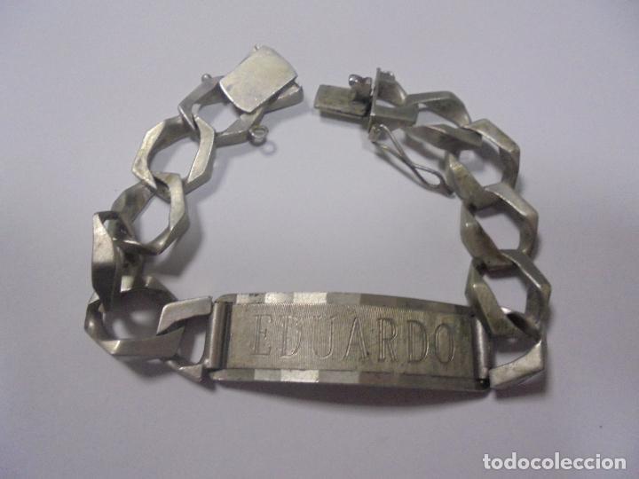 a95ab26a4d69 esclava de plata. 19 cm aprox. grabado el nombr - Comprar Plata de ...