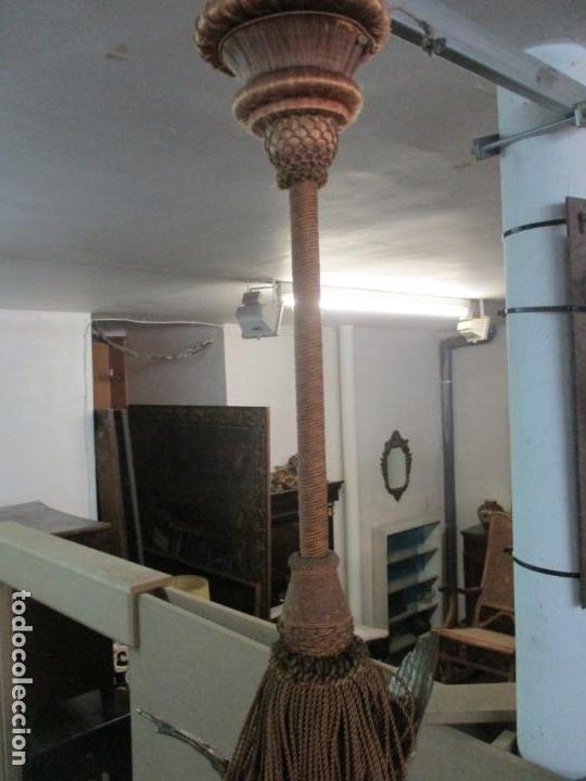 Antigüedades: Lámpara de Techo - Bronce Cincelado - 6 Luces - Decoración con Águila - Funciona - Foto 20 - 136445622
