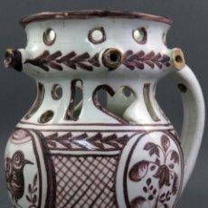 Antigüedades: JARRA BURLADERA EN CERÁMICA DE TALAVERA GOLONDRINA SIGLO XIX. Lote 136452926
