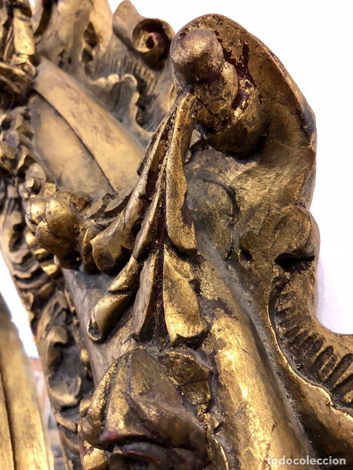 Antigüedades: ESPECTACULAR ESPEJO ANTIGUO EN MADERA TALLADA - Foto 11 - 208186791