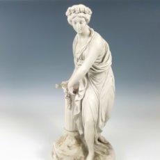 Antigüedades: FIGURA CLÁSICA. ESCULTURA FRANCESA EN BISCUIT, S.XIX.. Lote 136484664
