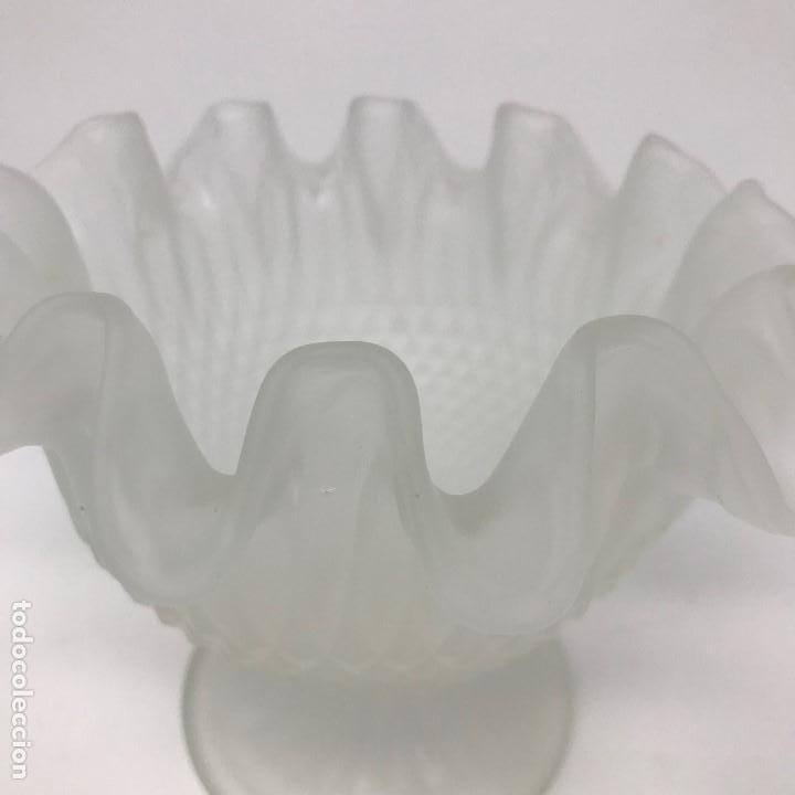 Antigüedades: Antigua Copa de cristal al ácido pricipios del SXX - Foto 3 - 136486146