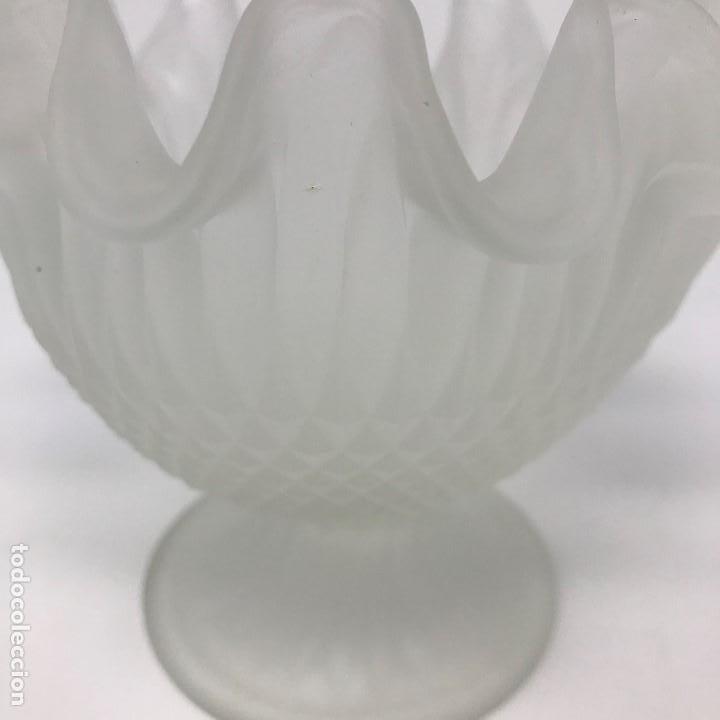 Antigüedades: Antigua Copa de cristal al ácido pricipios del SXX - Foto 4 - 136486146