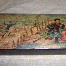 Antigüedades: ANTIGUA CAJA MADERA LAQUEADA GUERRA CHINO-JAPONESA - AÑO 1895 - EXCEPCIONAL.. Lote 136501058