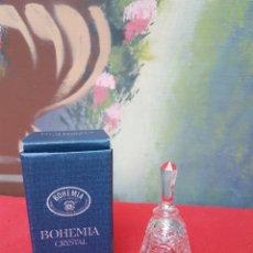 Antigüedades: CAMPANA DE CRISTAL DE BOHEMIA. Lote 136501449