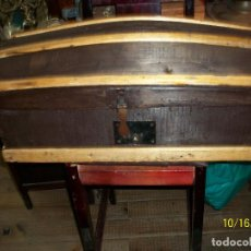 Antigüedades: ANTIGUO BAUL DE MADERA CON LLAVE. Lote 136510114