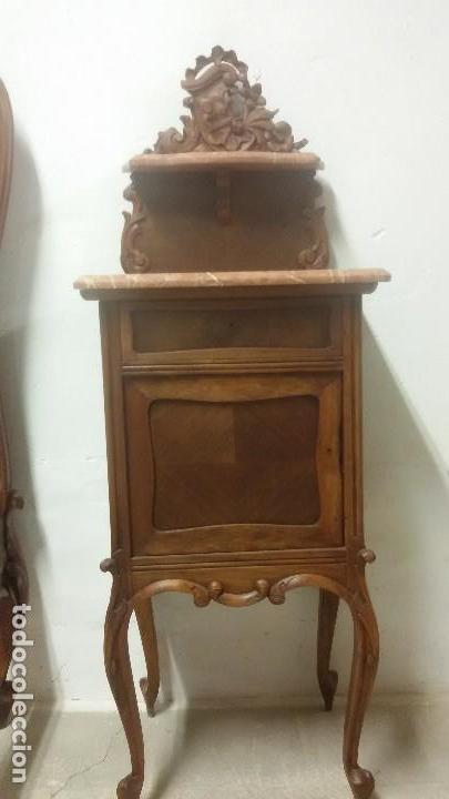 Antigüedades: Juego de cama y mesilla - Foto 3 - 136511630