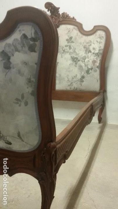 Antigüedades: Juego de cama y mesilla - Foto 6 - 136511630
