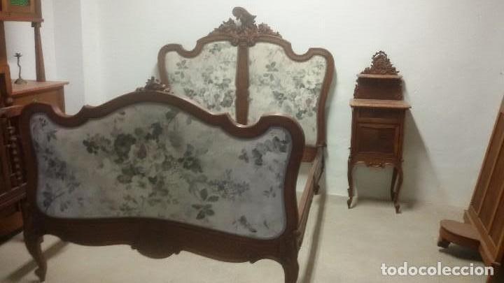 Antigüedades: Juego de cama y mesilla - Foto 7 - 136511630