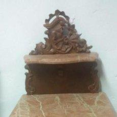 Antigüedades: JUEGO DE CAMA Y MESILLA. Lote 136511630