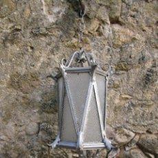 Antigüedades: GRAN FAROL DE HIERRO FORJADO S. XIX. Lote 136517342