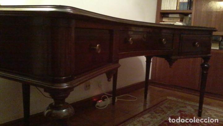 Antigüedades: Mesa de despacho clásica. - Foto 3 - 136520030
