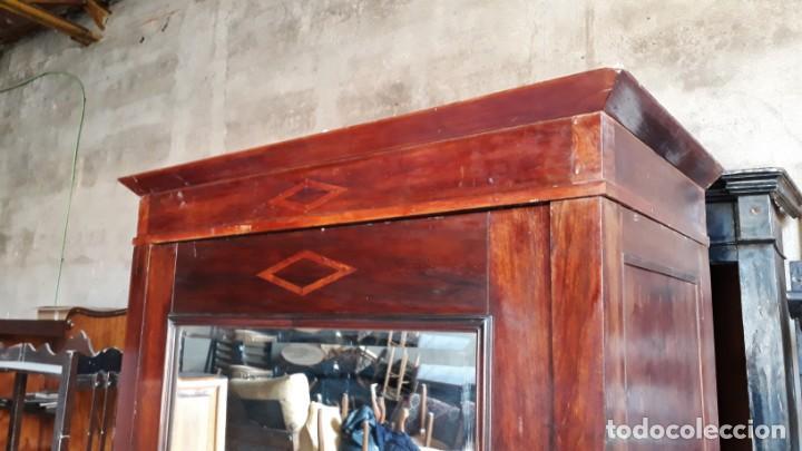 Antigüedades: Armario antiguo con espejo estilo modernista. Armario ropero estilo rústico armario estilo art decó. - Foto 8 - 136523990