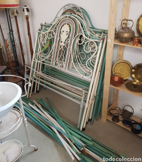 Camas de hierro cabecero y piecero iguales comprar camas antiguas en todocoleccion 136526037 - Camas de hierro antiguas ...