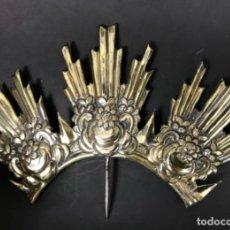 Antigüedades: PLATA BERMELL RESPLANDO AUREOLA EN PLATA DORADA PUNZONADA MARTINEZ CORDOBA AÑO 1800. Lote 136526118