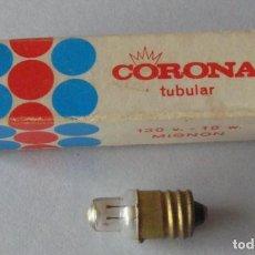 Antigüedades: BOMBILLA CORONA TUBULAR MIGNON 130 V.-10 W.. Lote 136541070
