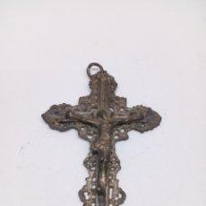 Antigüedades: CRUZ DE CRISTO METAL. Lote 136546849