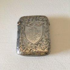 Antigüedades: CERILLERO PLATA BIRMINGHAM 1896. Lote 136553366