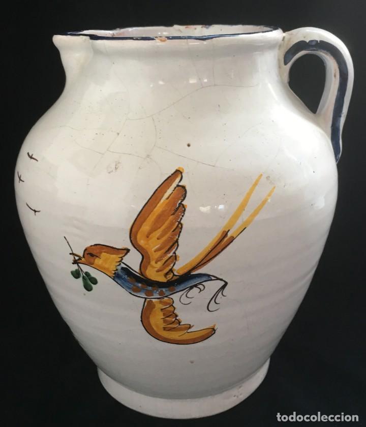 Antigüedades: PRECIOSA JARRA DE CERÁMICA CATALANA - Foto 3 - 136559834