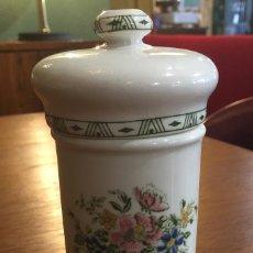 Antigüedades - Pequeño bote farmacia motivos florales - 136561982