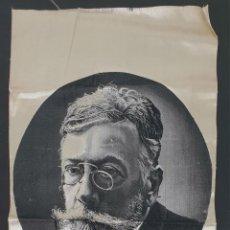 Antigüedades: ROSTRO DE ÁNGEL GUIMERÁ. JACQUARD SOBRE SEDA. CIRCA 1920. . Lote 136564226