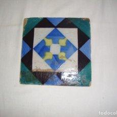 Antigüedades: 1 AZULEJO GEOMÉTRICO COLORIDO - SEC XIX. Lote 136592746