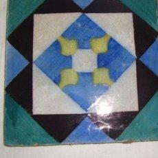 Antigüedades: 1 AZULEJO GEOMÉTRICO COLORIDO - SEC XIX. Lote 136593178