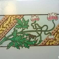 Antigüedades: 28 AZULEJOS MODERNISTAS, PARA HACER UN TINAJERO, O ETC. Lote 136597876