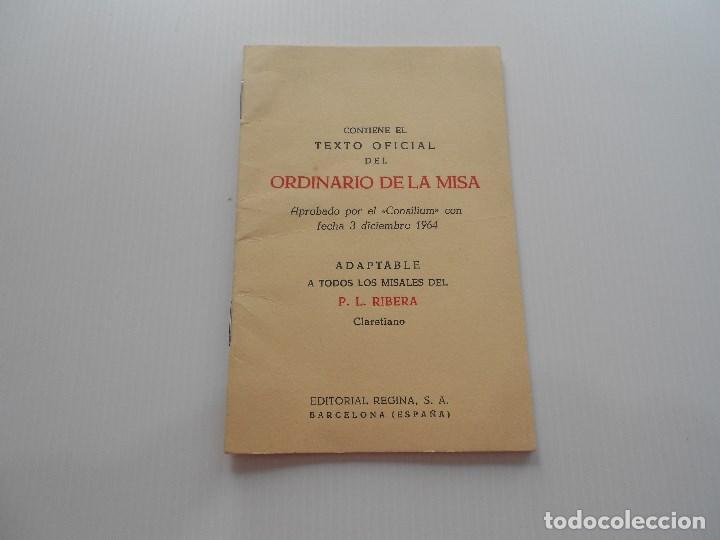 ORDINARIO DE MISA 1965 (Antigüedades - Religiosas - Varios)