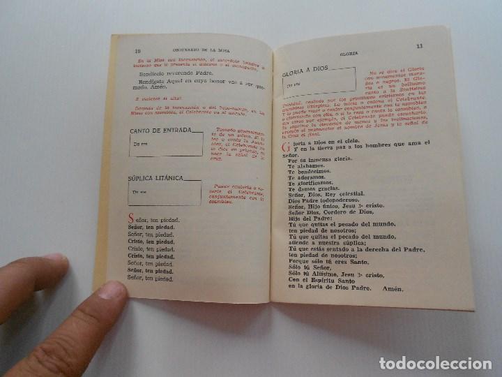Antigüedades: ordinario de misa 1965 - Foto 2 - 136604854