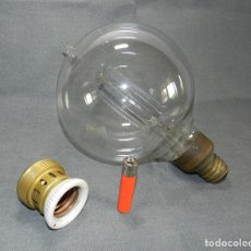 Antigüedades: ESPECTACULAR BOMBILLA DE 20 CM DIÁMETRO PRINCIPIOS SIGLO XX, 150W LUZ CONTINUA.. Lote 136625574