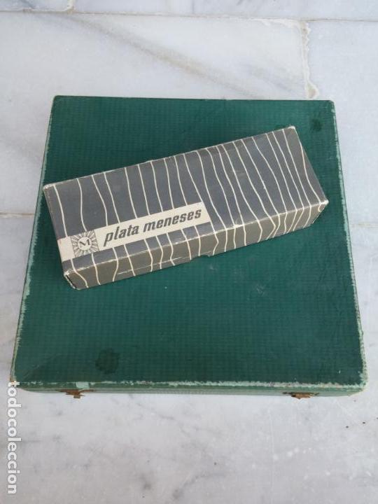 Antigüedades: Magnífica cubertería plata Meneses ( metal plateado ) seis comensales años 60 - Foto 17 - 136634358