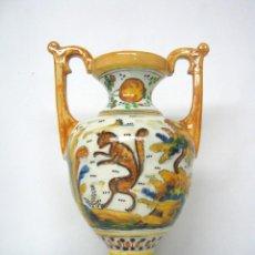 Antigüedades: 30 CM - BELLO JARRON CERAMICA POLICROMADA TALAVERA. Lote 136644014