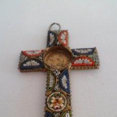 Antigüedades: CRUZ CON MOSAICO. Lote 136650546