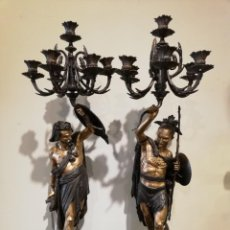 Antigüedades: CANDELABROS SIGLO XIX Y 90 CM. Lote 136650882