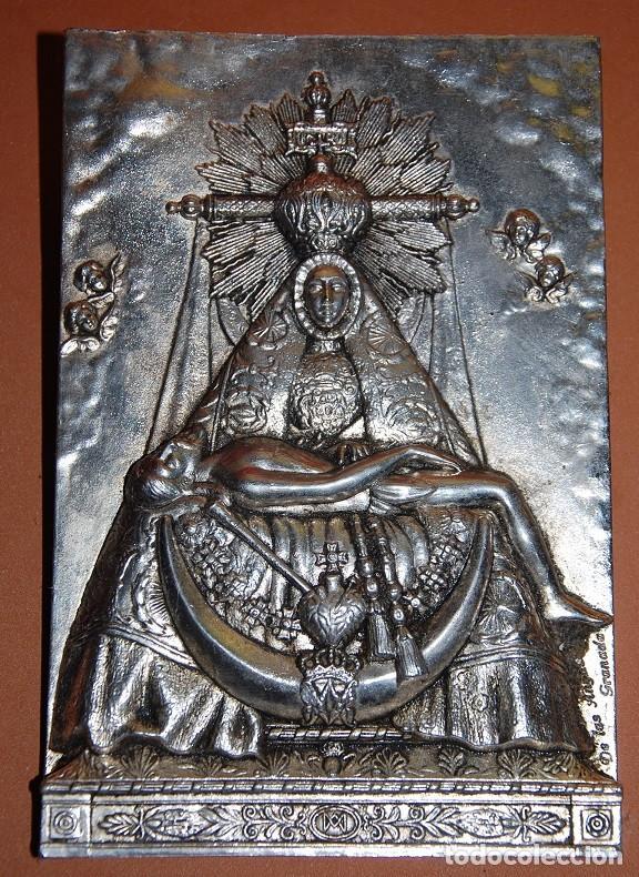 PLACA VIRGEN DE LAS ANGUSTIAS / APLIQUE VIRGEN DE LAS ANGUSTIAS-06 (Antigüedades - Religiosas - Varios)