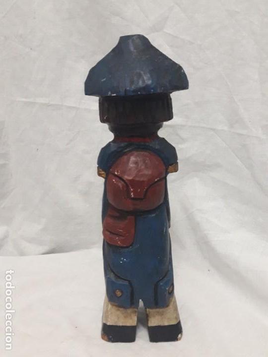 Antigüedades: Antigua talla de madera policromada soldado francés Napoleónico - Foto 5 - 136655006