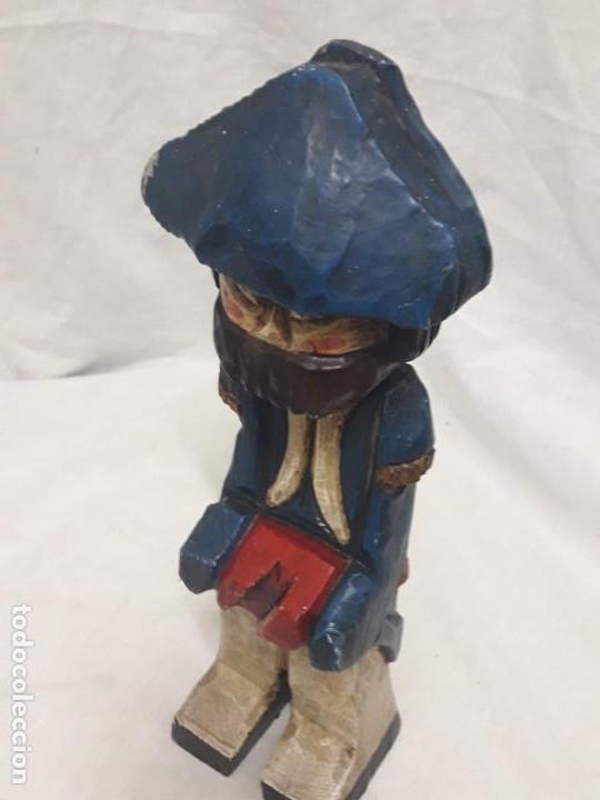 Antigüedades: Antigua talla de madera policromada soldado francés Napoleónico - Foto 11 - 136655006