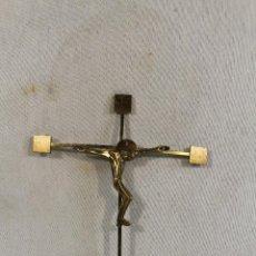 Antigüedades: CRISTO EN LA CRUZ CRUCIFIJO DE BRONCE. Lote 136661754