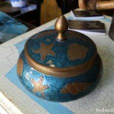 Antigüedades: PRECIOSO JOYERO METAL MADE IN INDIA. Lote 136671362
