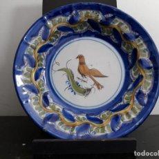 Antigüedades: PLATO DEL PAJARO. Lote 136672578