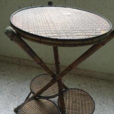 Antigüedades: MACETERO ANTIGUO DE BAMBU . Lote 136676206