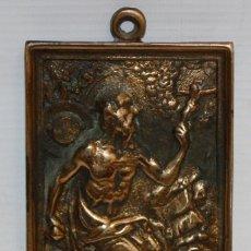 Antigüedades: PLACA DEVOCIONARIA DE SAN JERONIMO EN BRONCE. PRINCIPIOS SIGLO XIX. Lote 136686546