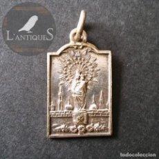 Antigüedades: MEDALLA RELIGIOSA COLGANTE VIRGEN DEL PILAR, ANTIGUA S XX. Lote 136709870