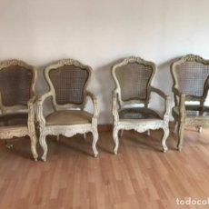 Antigüedades: 4 SILLONES FRANCESES S. XIX. Lote 136718562