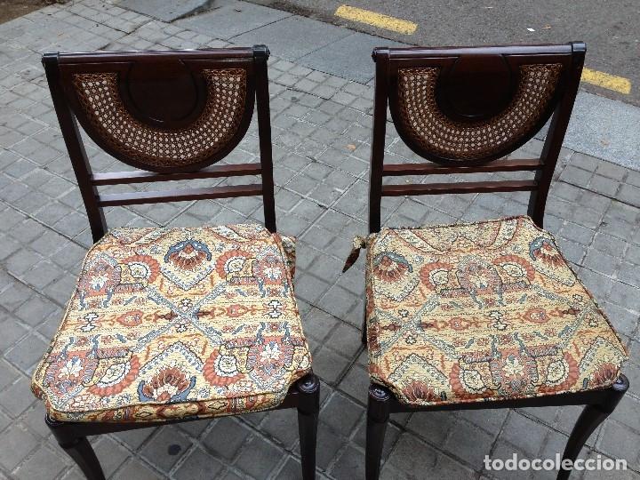 Antigüedades: Sillas de rejilla, lote de hasta 4 sillas - Foto 3 - 136720046