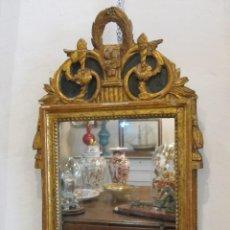 Antigüedades: ESPEJO CORNUCOPIA DE FINALES DEL SIGLO XVIII - EN MADERA TALLADA Y DORADA - FRANCES. Lote 136739130