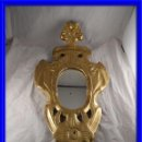 Antigüedades: ANTIGUA CORNUCOPIA DE MADERA DORADA CON ORO FINO. Lote 136752226