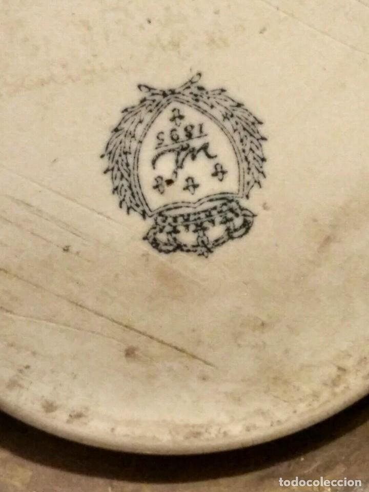 Antigüedades: IMPRESIONANTE CENTRO DE MESA - METAL PORCELANA - ESTILO ART NOUVEAU - SELLO EN BASE.. - Foto 15 - 136758778